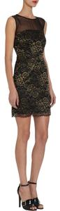 Diane von Furstenberg Metallic Sheer Dvf Dress