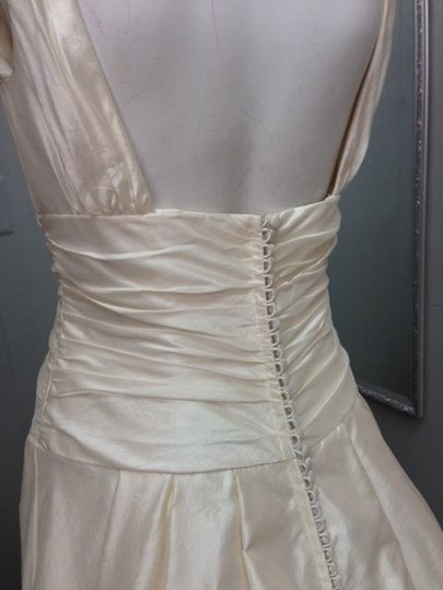 Tara Keely Ivory Silk Shantung 2954 Formal Dress Size 8 (M)