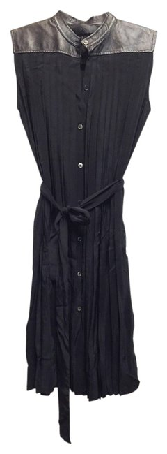 Preload https://img-static.tradesy.com/item/10824337/co-black-silk-and-leather-sleeveless-mid-length-casual-maxi-dress-size-2-xs-0-1-650-650.jpg