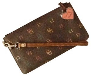 Dooney & Bourke Wristlet in Brown With Multicolor Monogram