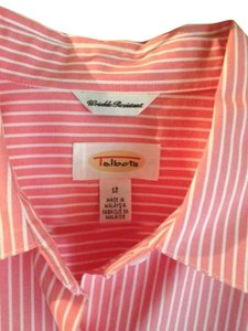 Talbots Button Down Shirt pink/peach