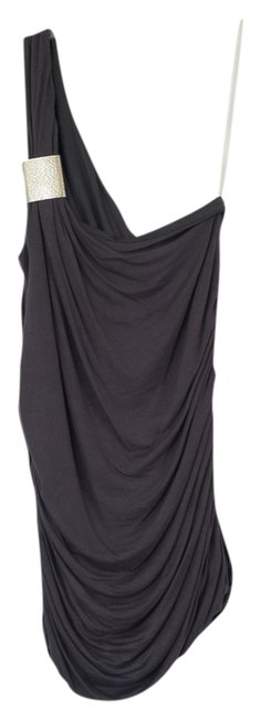 Item - Gray One One Shoulder Above Knee Night Out Dress Size 16 (XL, Plus 0x)
