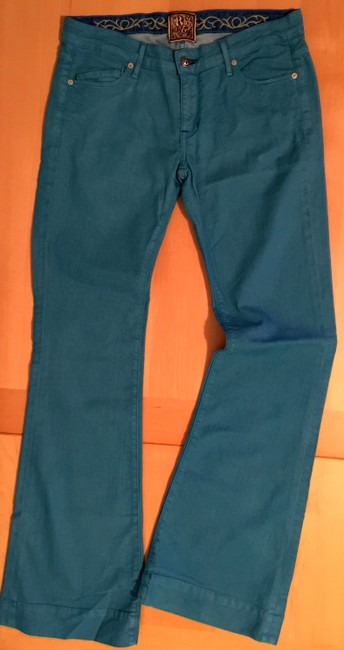 Rich & Skinny Turquoise And Spring Flare Leg Jeans Image 2