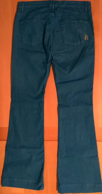 Rich & Skinny Turquoise And Spring Flare Leg Jeans Image 4