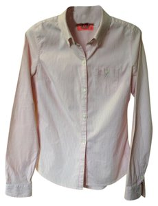 Juicy Couture Button Down Shirt pink & white