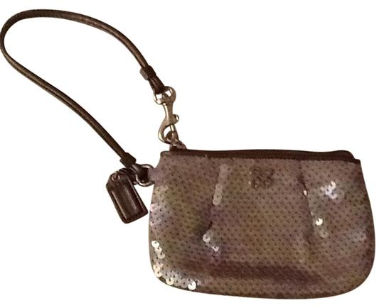 Preload https://img-static.tradesy.com/item/10825219/coach-greyish-lavendar-sequins-leather-fabric-wristlet-0-1-540-540.jpg