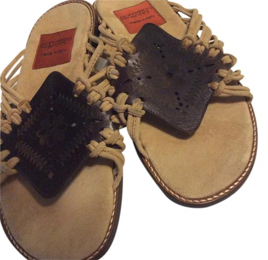 Goffredo Fantini BEIGE AND BROWN Sandals