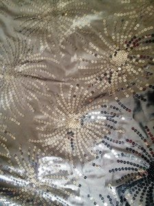 Silver Starburst Sequined Table Cloth