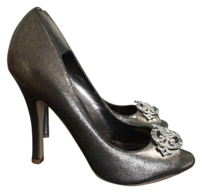 Item - Silver For Sparkle Classic Formal Shoes Size US 8.5