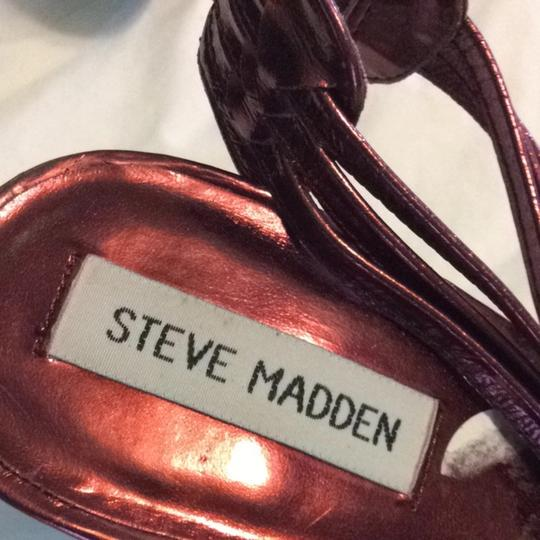 Steve Madden RED BRONZ LEATHER Pumps Image 2