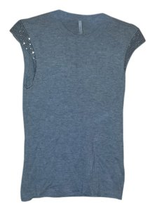 Isli Top Grey cashmere with swavarsky crystals