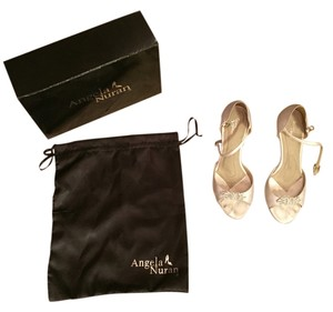 Angela Nuran White With Rhinestones/Crystals Formal