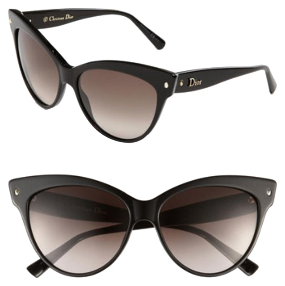b00d82672a Dior Cat Eye Sunglasses With Logo On Temple