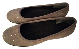 Aerosoles Suede Embellished Comfortable Taupe Flats