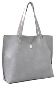 Brooklyn Industries Vegan Leather Tote in Grey