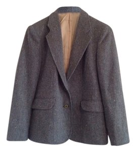 Oscar de la Renta Tweed Vintage Multi Color Blue Blazer