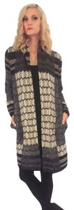 BCBGMAXAZRIA Long Knit Patterned Cardigan