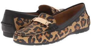 Coach Natural/Black Flats