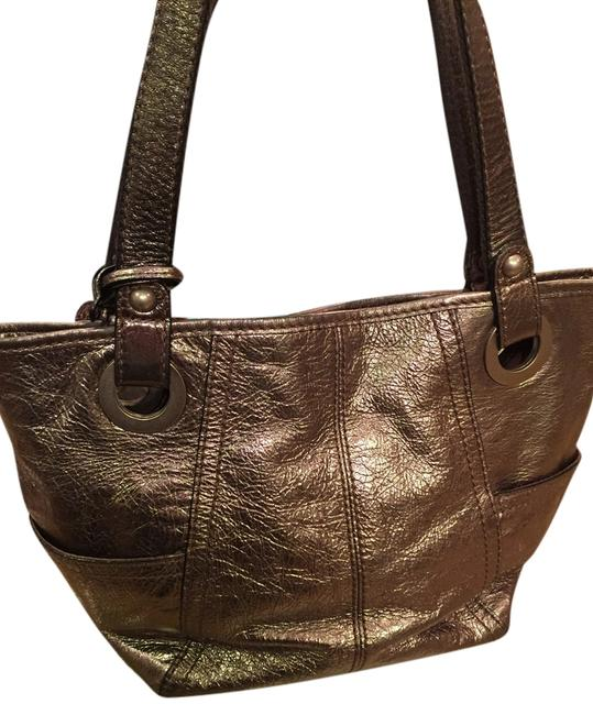 Item - Iridescent Taupe Leather Hobo Bag