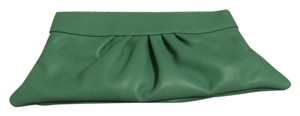 Lauren Merkin Pleated Leather Green Clutch