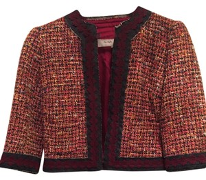 Trina Turk Tweed Denim Multi Color Blazer