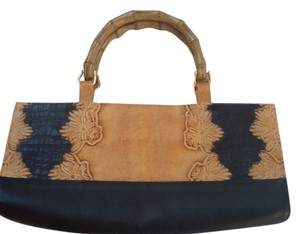 Roberto Vascon Satchel in Black and Natural