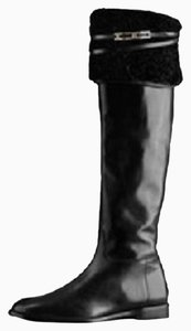 Burberry Knee Black Boots