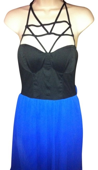 Other short dress Blue Cage Straps Cut-out on Tradesy
