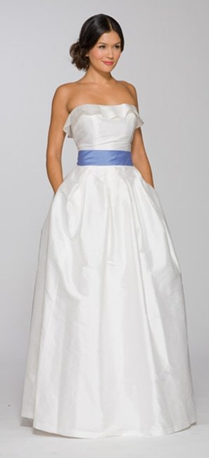 Item - White Silk Shantung Jasmine 194 Casual Wedding Dress Size 12 (L)