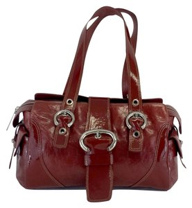 Francesco Biasia Dark Red Leather Hobo Bag