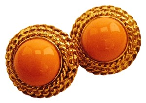 Other Coral Color Round Earrings