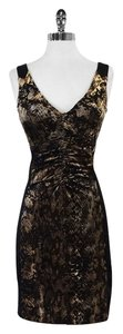 Alberto Makali short dress Black Snakeskin Print on Tradesy