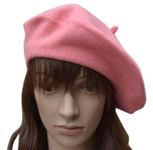 new! Pink wool blend classic French Beret Hat