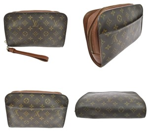 Louis Vuitton Vintage Leather Brown Clutch