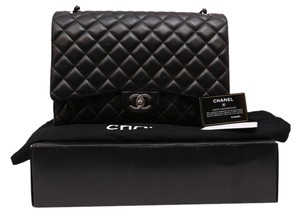 Chanel Leather Classic Flap Double Maxi Shoulder Bag