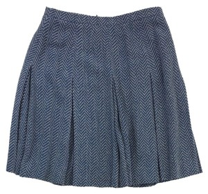 Rena Lange Blue Grey Chevron Textured Skirt