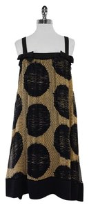 Diane von Furstenberg short dress Tan Black Polka Dot on Tradesy