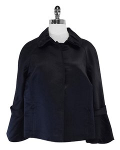 Elie Tahari Dark Navy Glossy Silk Jacket