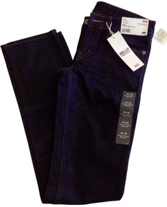 Uniqlo Straight Pants Navy Blue