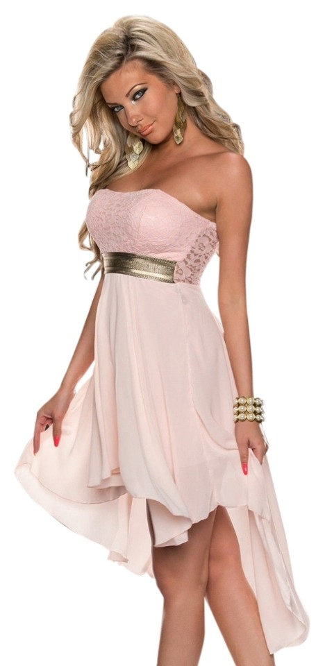 50bf4715b0d2 Hot Miami Styles Pink Baby Doll Cute Lace Design Above Knee Night ...