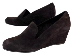 Stuart Weitzman Brown Suede Wedges