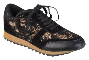 Journee Collection Black Lace Athletic
