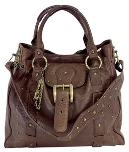 Betsey Johnson Brown Leather Tote