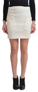 Dsquared2 Mini Skirt Cream White