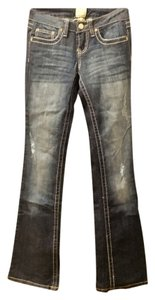 Arden B. Denim Boot Cut Jeans-Distressed