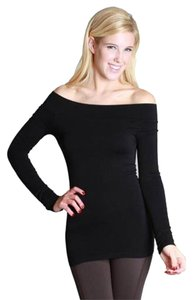 Nikibiki Long Sleeve Shoulder Seamless Top Black