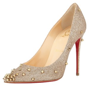 Christian Louboutin Brand New In Box GOLD/ BRONZE Pumps