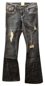 Arden B. Distressed Denim Flare Leg Jeans-Distressed