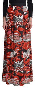 Philipp Plein Maxi Skirt Multi-Color