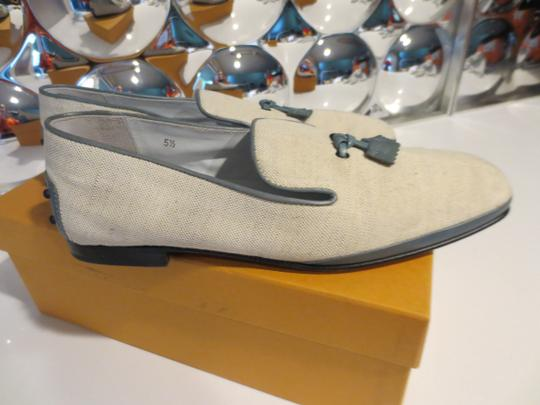 Tod's Blue/Off-while Flats